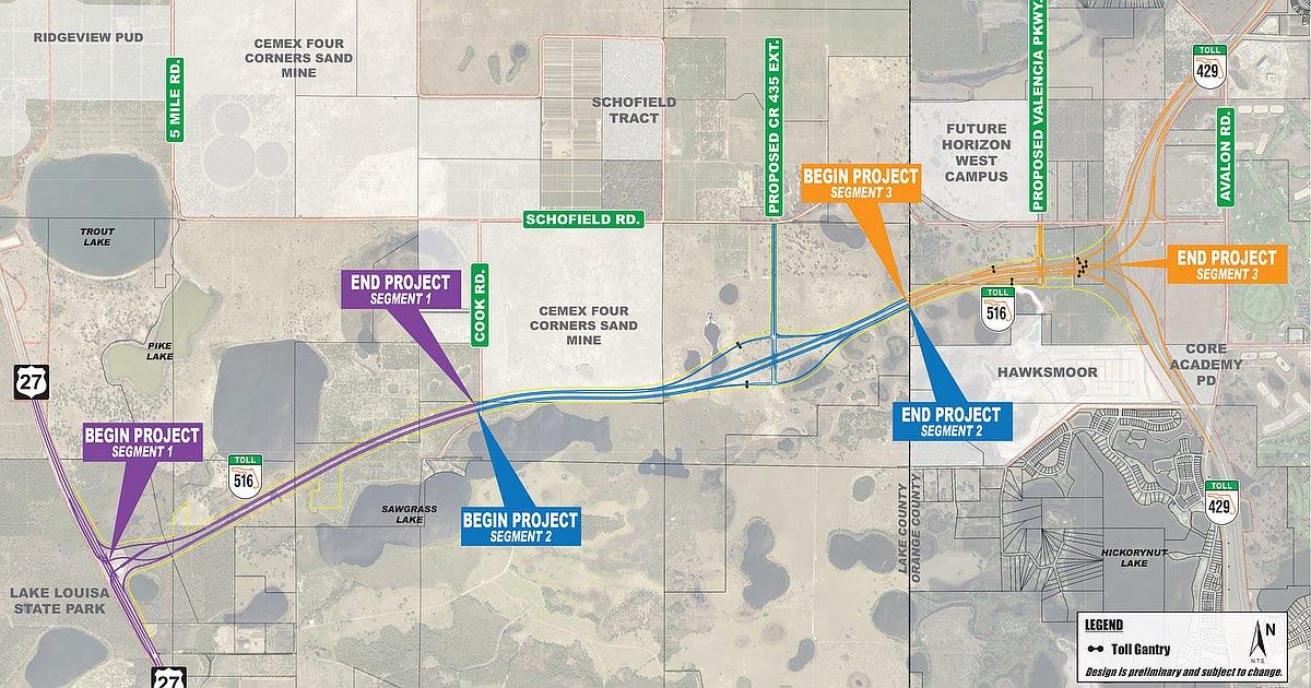 Nova Via Expressa entre Clermont e Winter Garden é aprovada