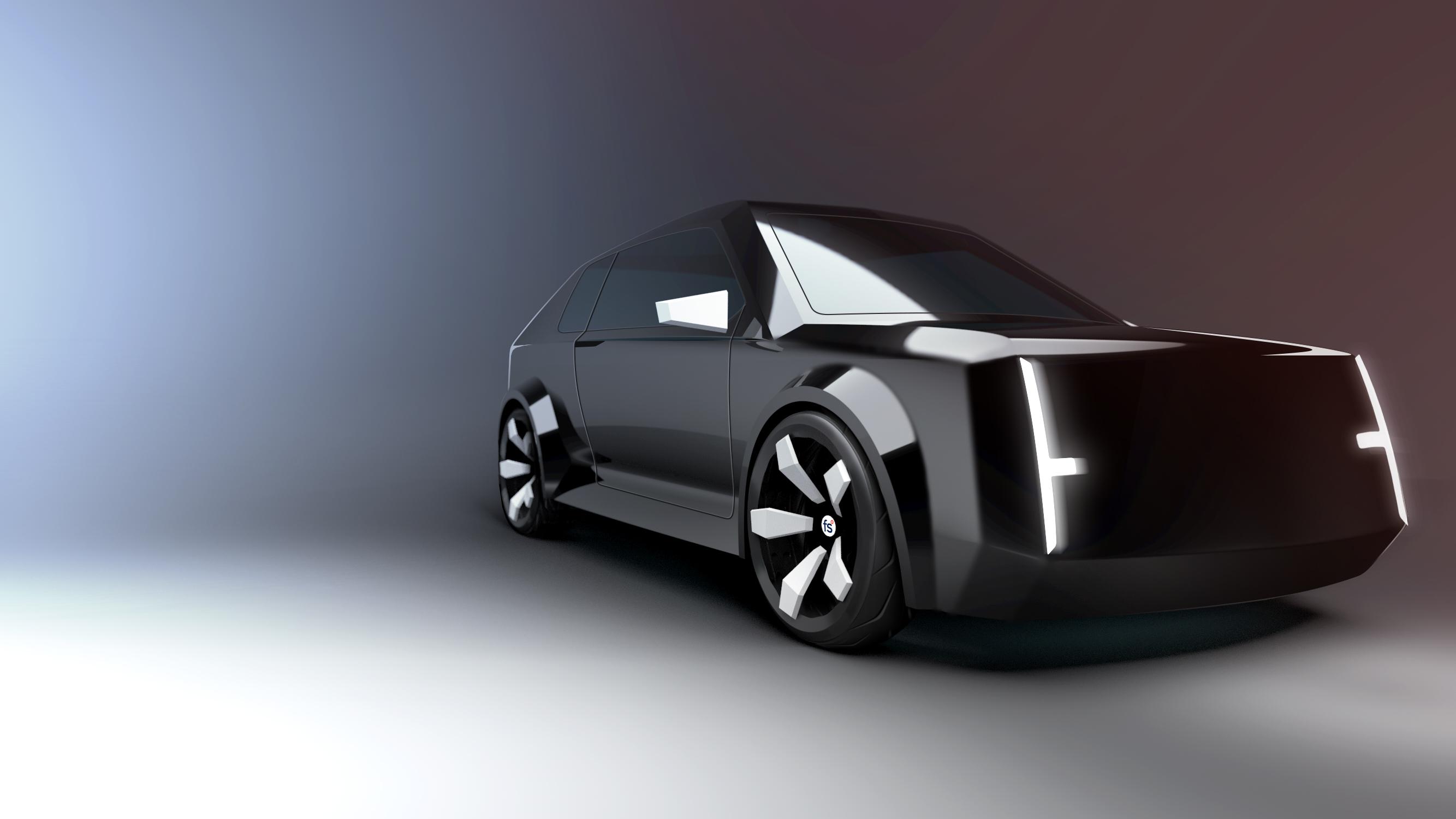 SUV modeled in flyingshapes