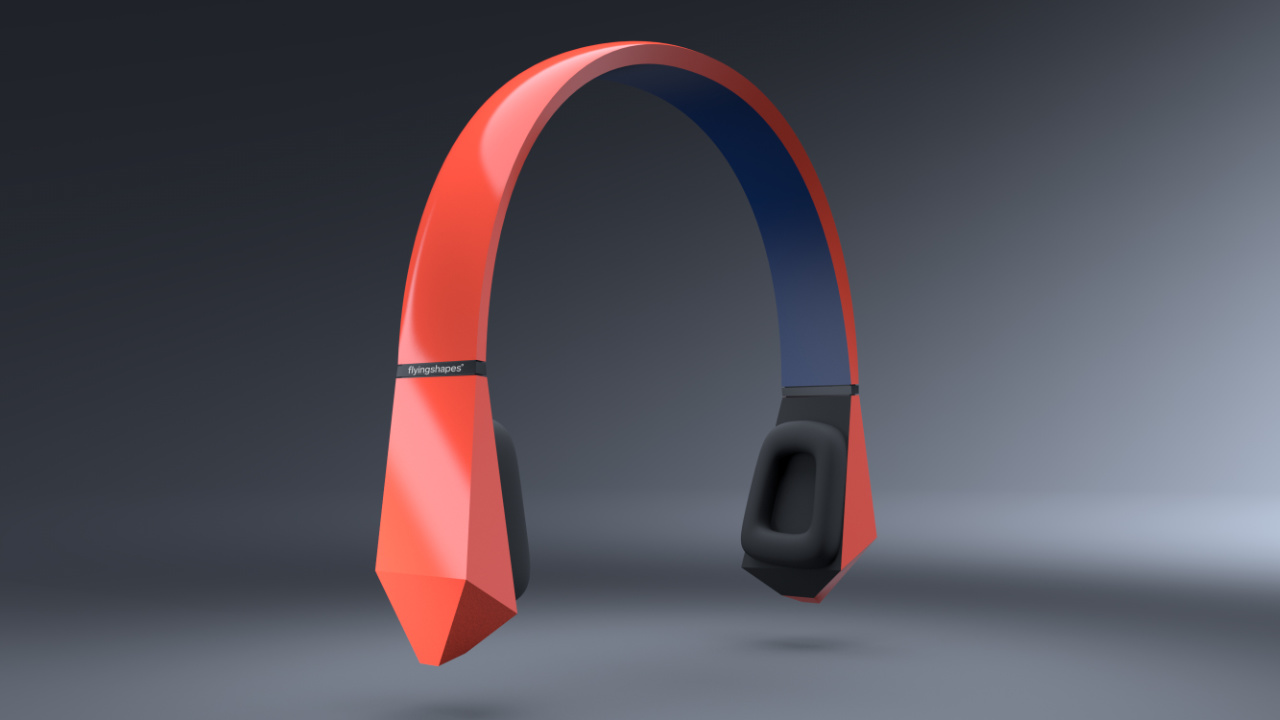 Headphones modeled in flyingshapes