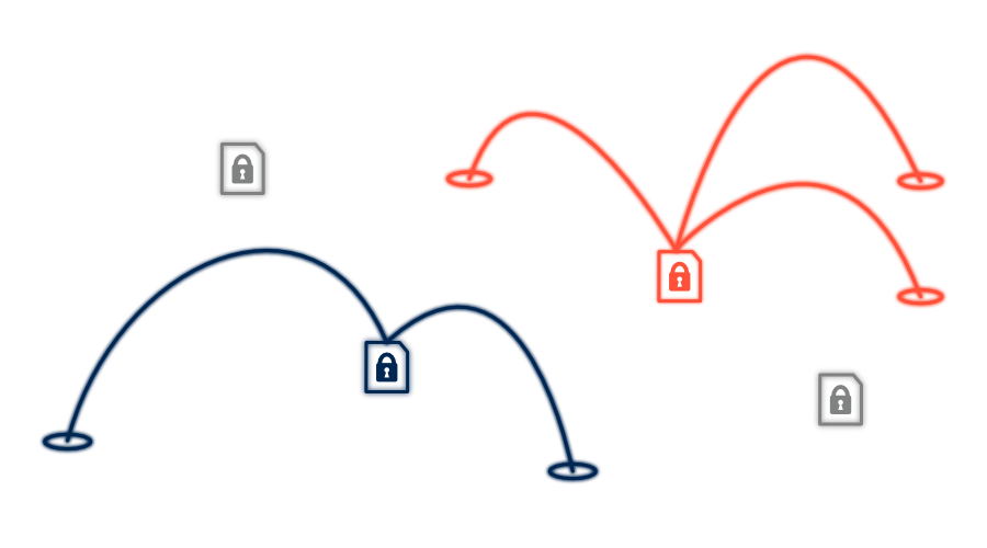 Encrypted Network Illustration