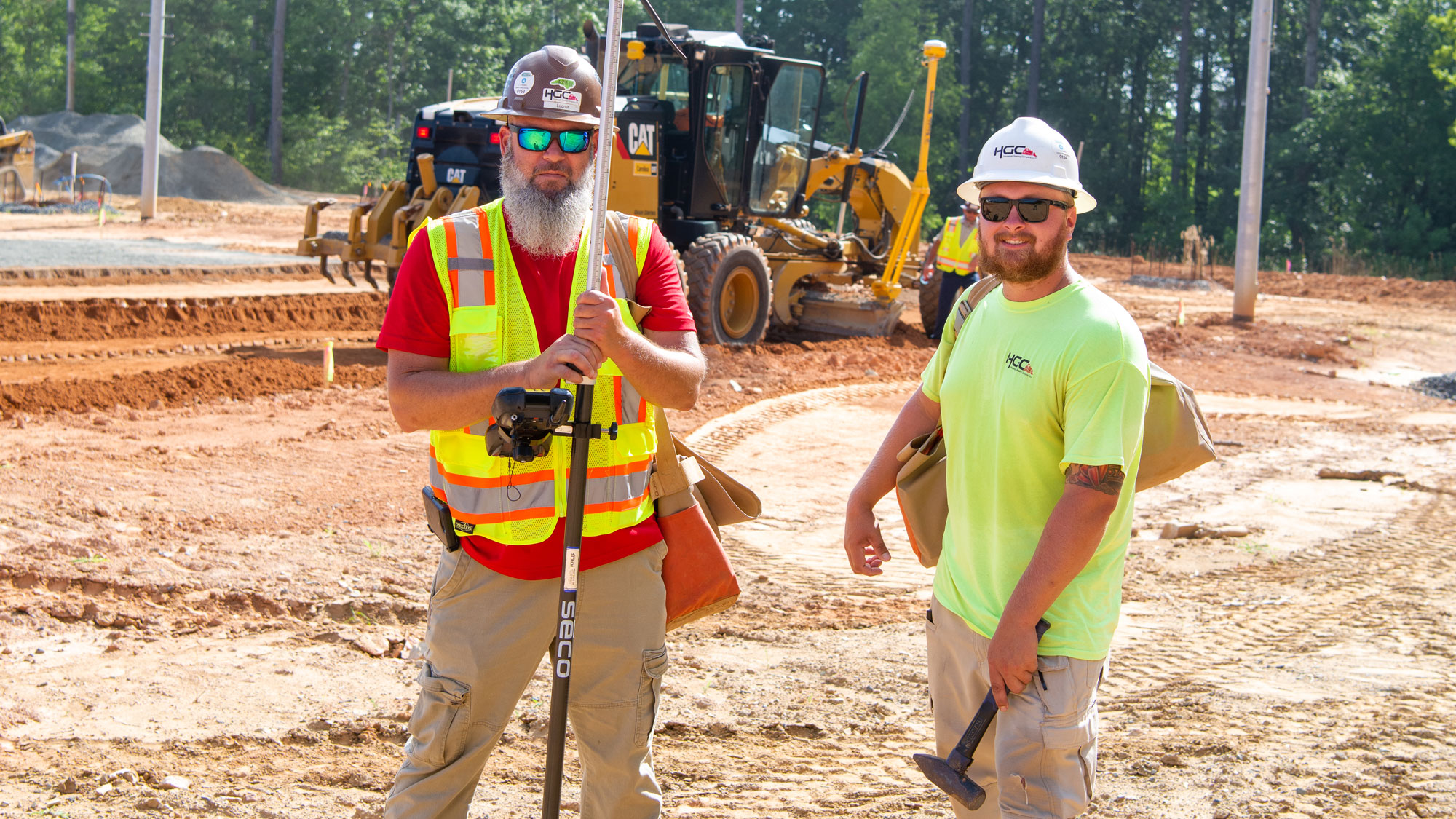 Two project team members posing for a photo.