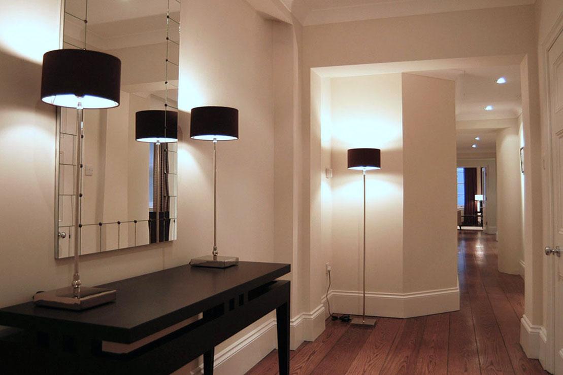 Knightsbridge hall table & floor lamps