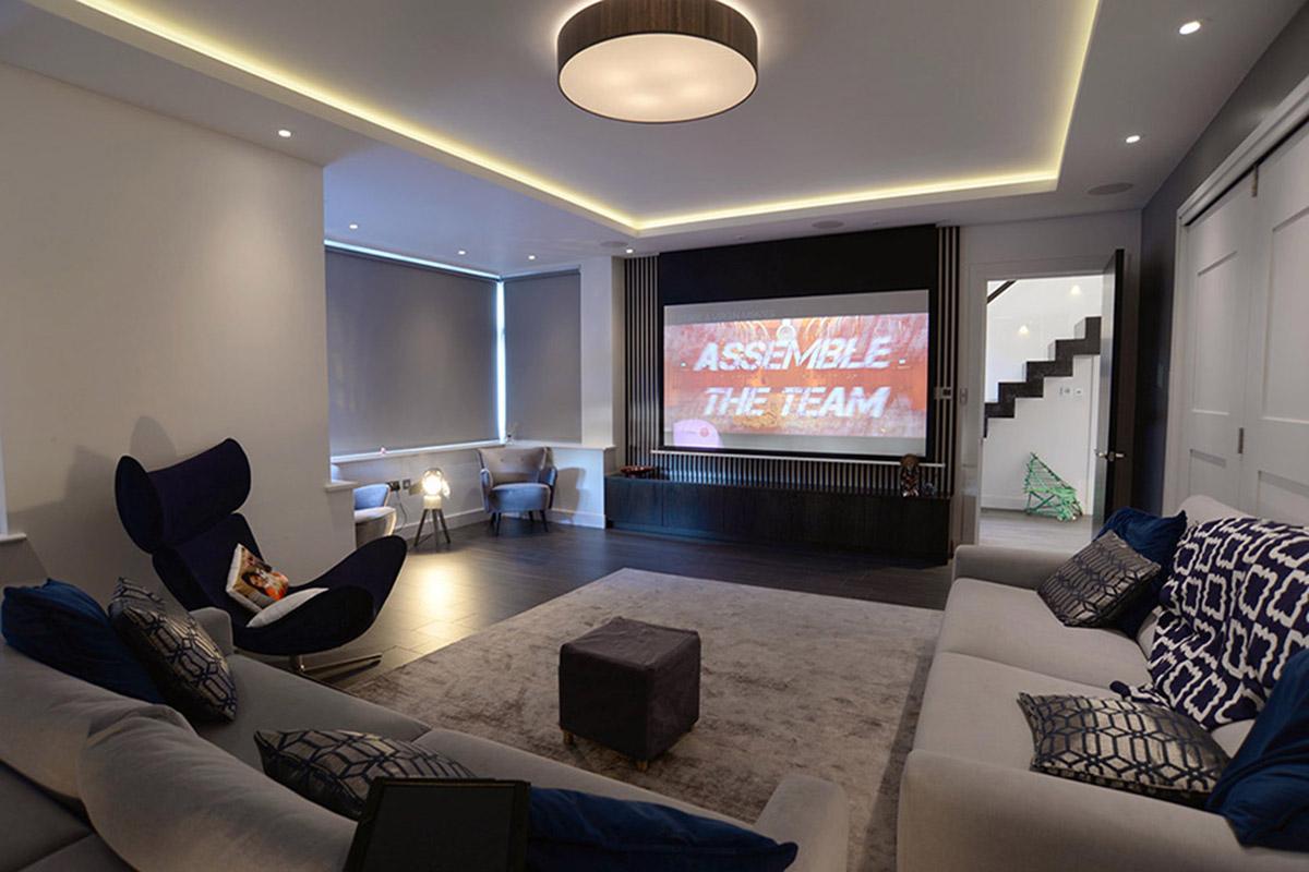 Home cinema, Winchmore Hill, North London