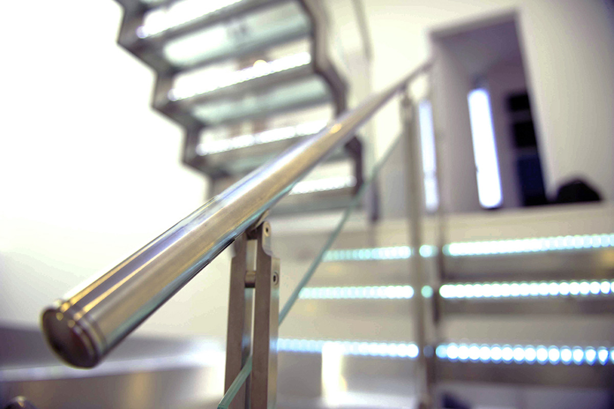 Backlit Glass Stair Treads