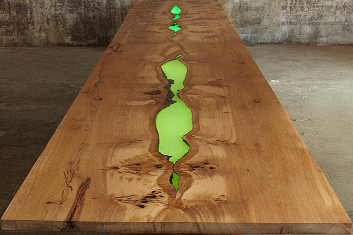 Bespoke illuminated dining table 1