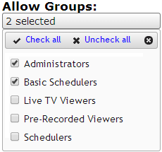 Workflow Groups