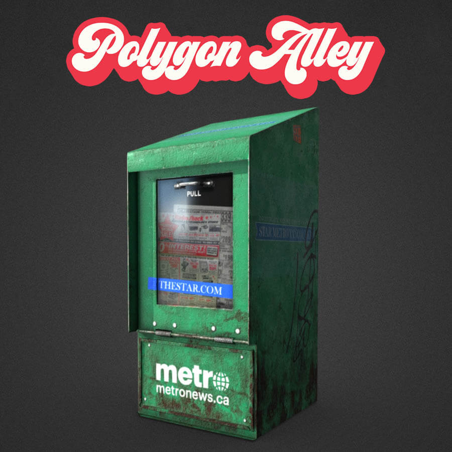 Polygon Alley collection of 3D objects