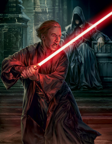 Plagueis and Palpatine as seen in Darth Plagueis by James Luceno.
