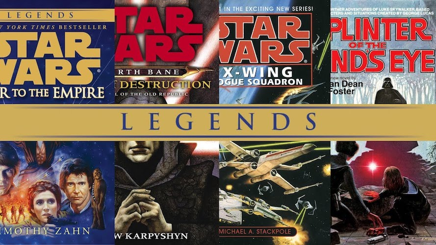 Examples of Star Wars Legends books.