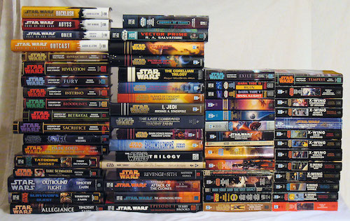 Just a small portion of the many Star Wars books out there.