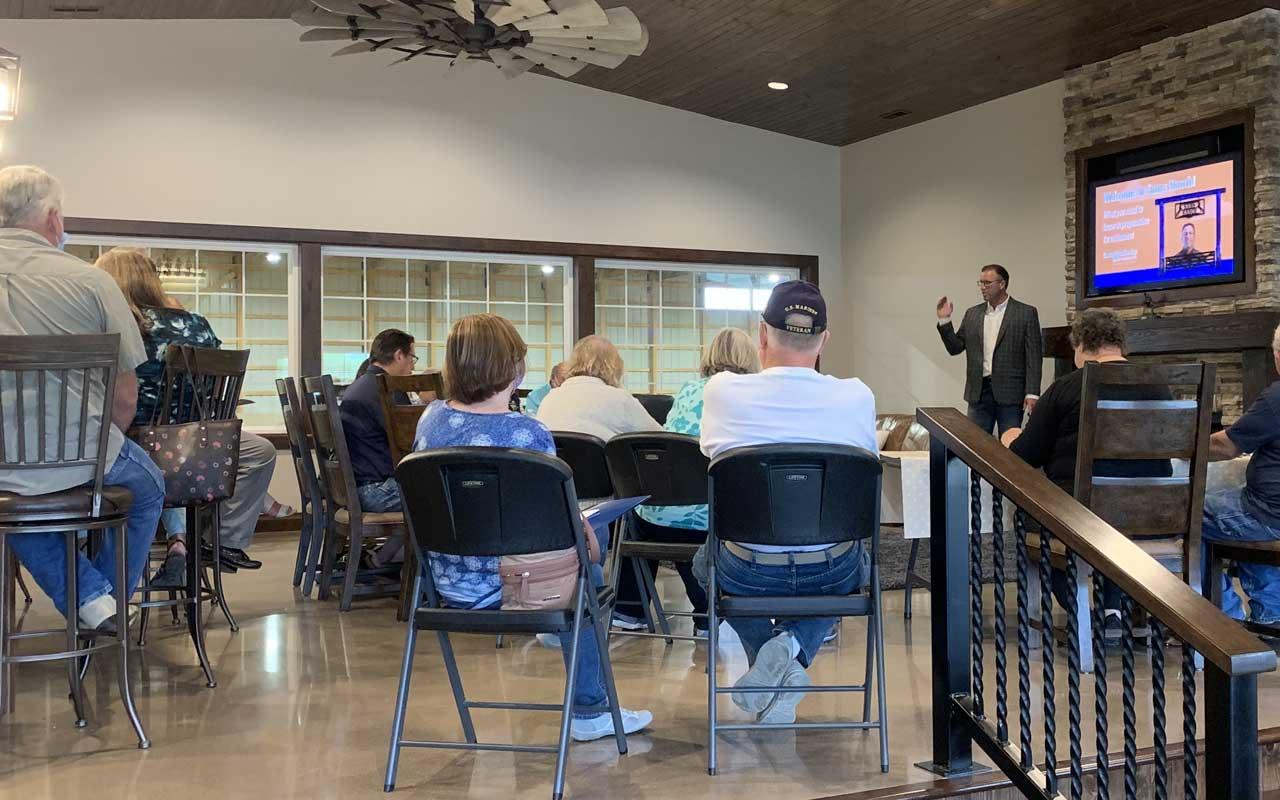 Michael Sams giving presentation