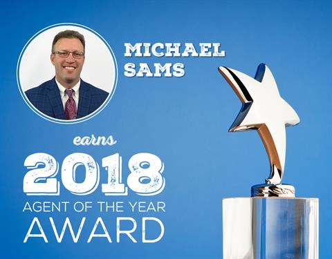 Michael Sams Earns 2018 Agent of the Year Award