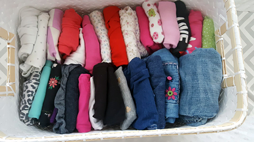 decluttering decatur il baby clothes Marie Kondo style
