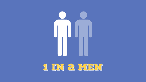 1 in 2 men will be diagnosed with cancer