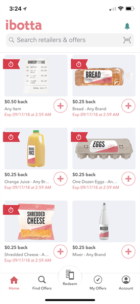 Ibotta grocery coupons
