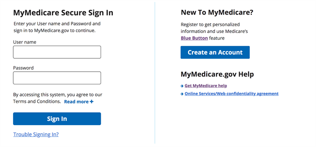 Create a MyMedicare Account