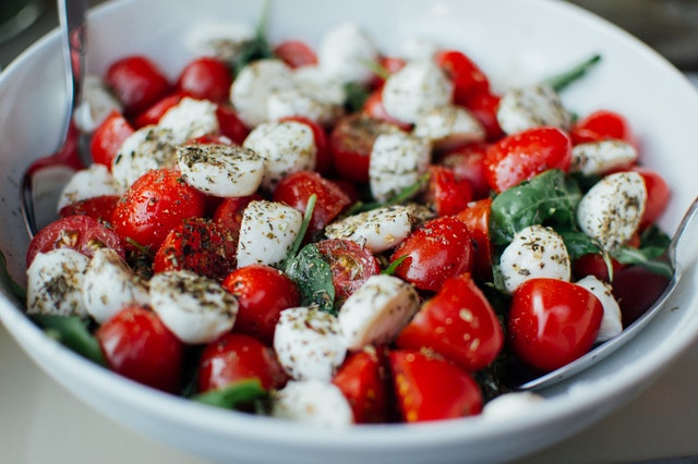 Caprese salad for healthy eating over 60