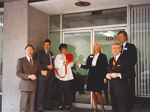 Sams/Hockaday ribbon cutting, 1992