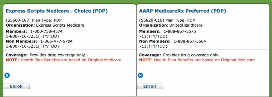 Medicare.gov PDP
