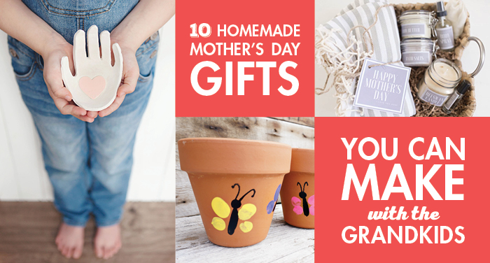 10 Homemade Mother's Day Gifts You Can Make With the Grandkids