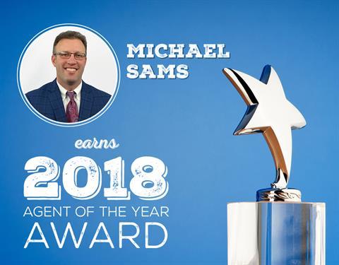Michael Sams Earns 2018 Agent of the Year Award