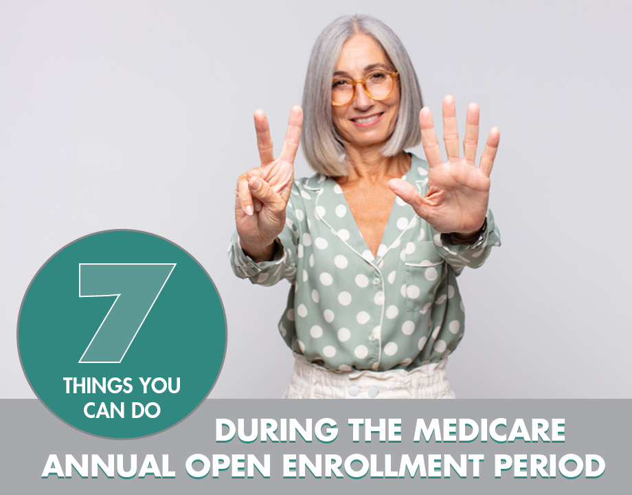 7 Things You Can Do During the Medicare Annual Open Enrollment Period