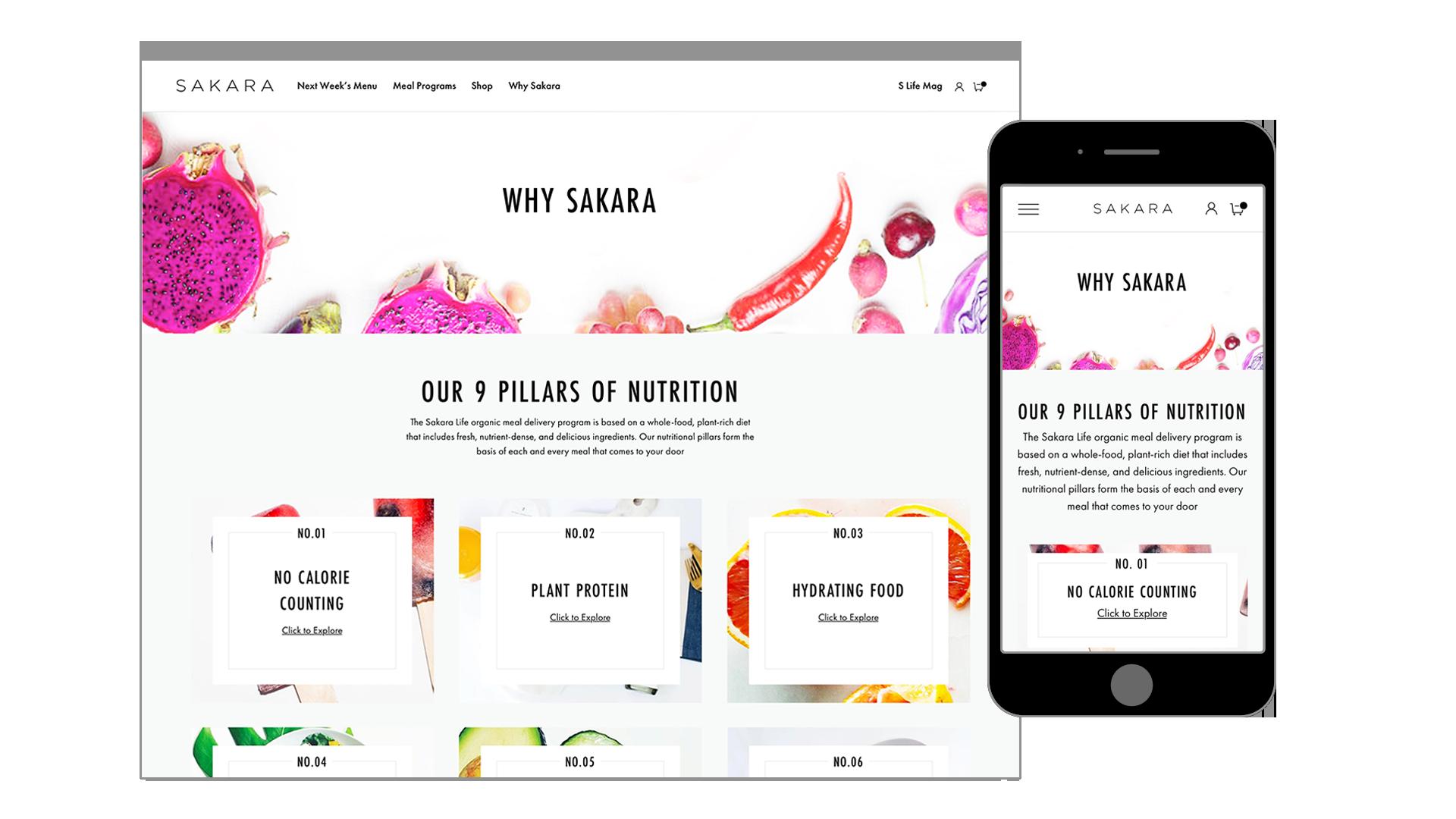 Sakara Life Why Sakara Desktop and Mobile Mockups