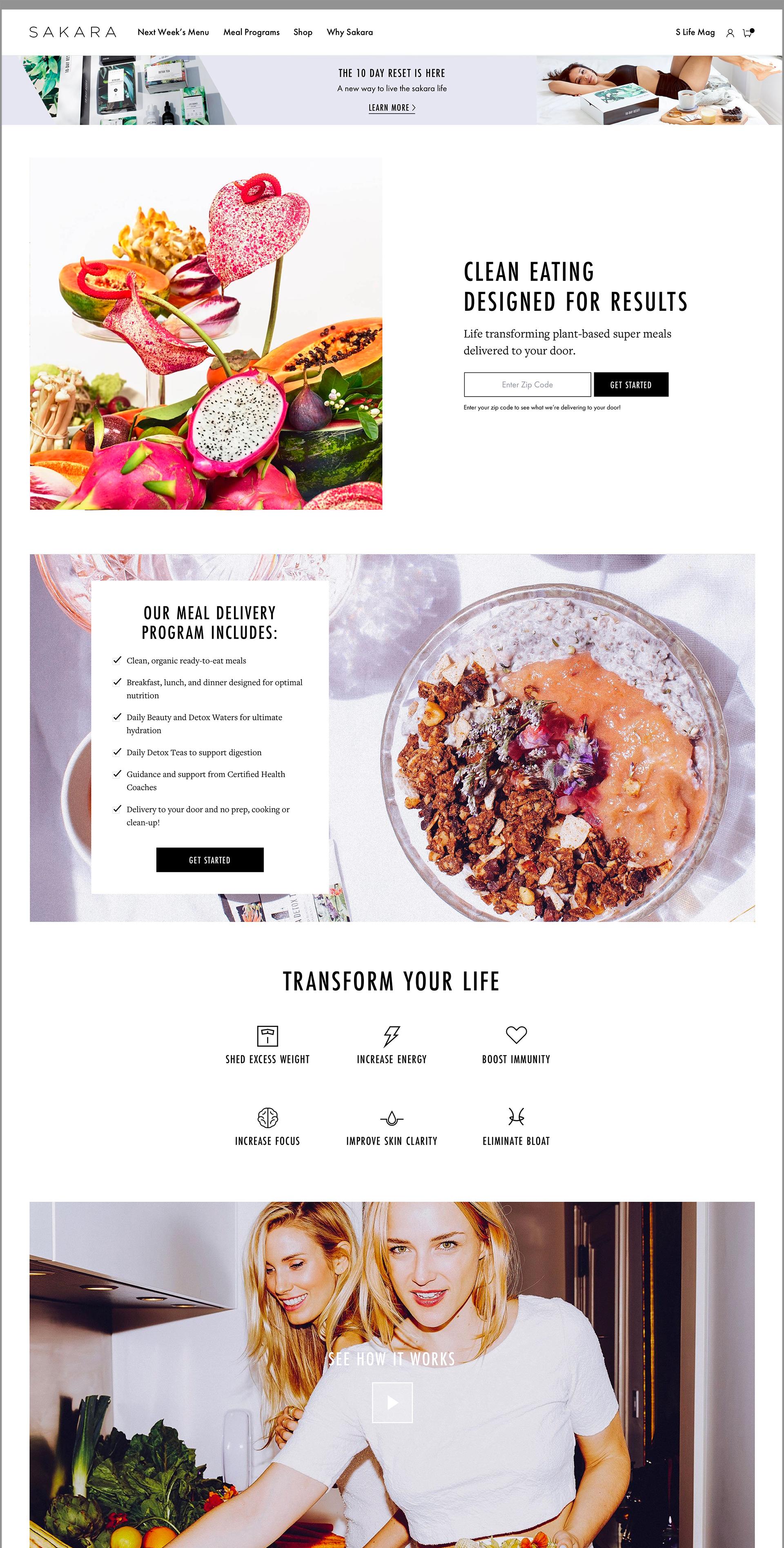 Sakara Life Homepage Desktop Mockup