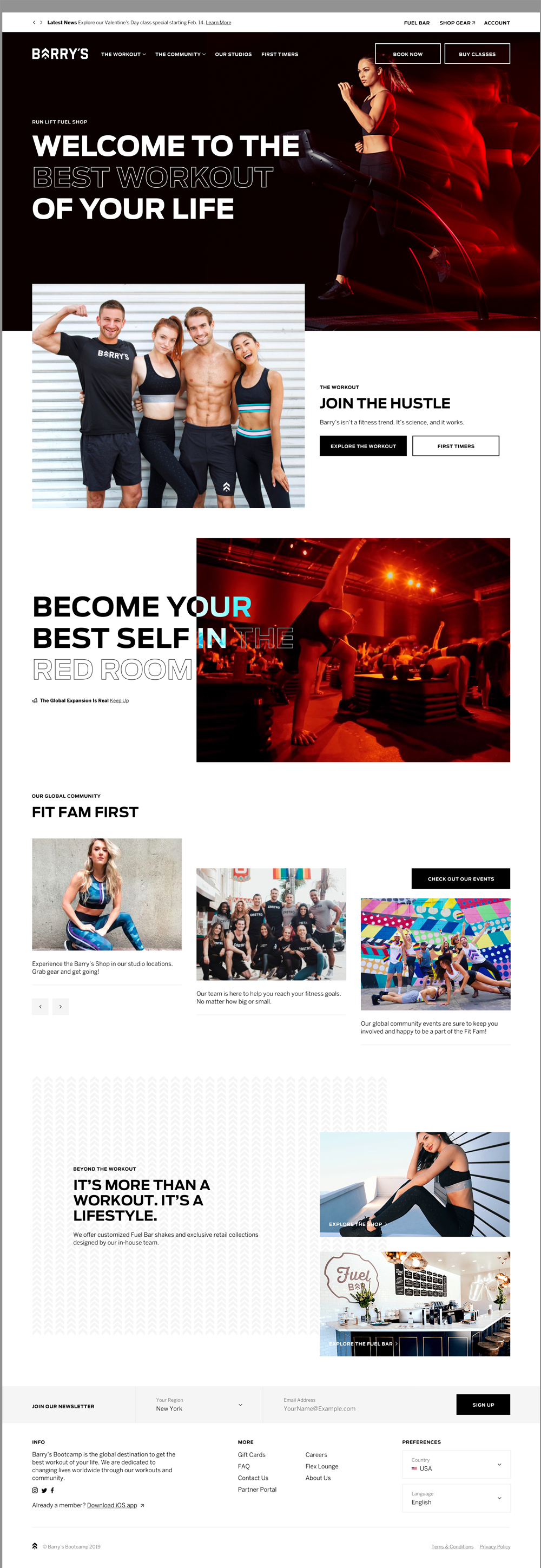 Barrys Bootcamp Homepage Desktop Mockup