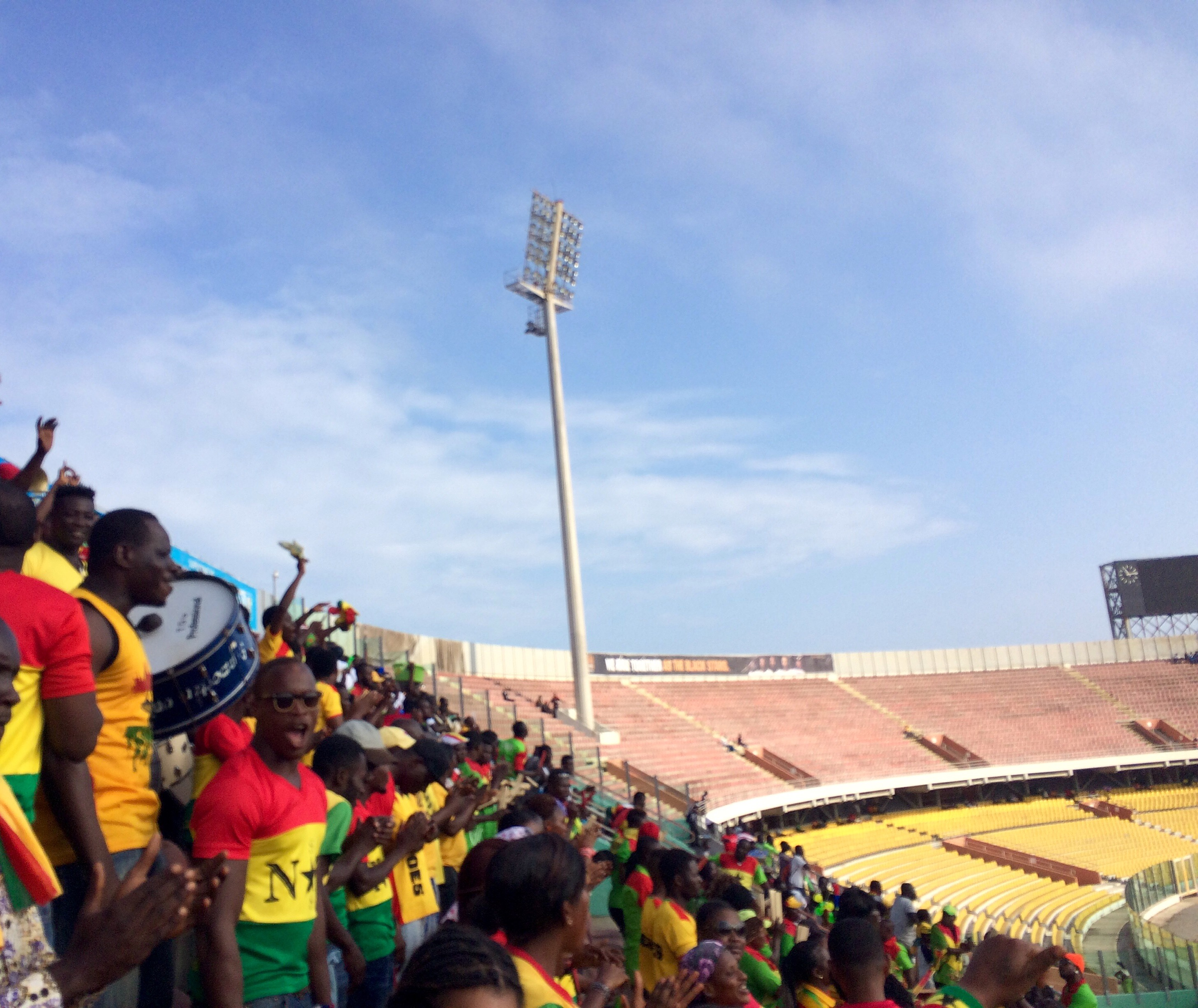 Black Stars Supporter Section | Photo by Wilson Carletti (All Rights Reserved)