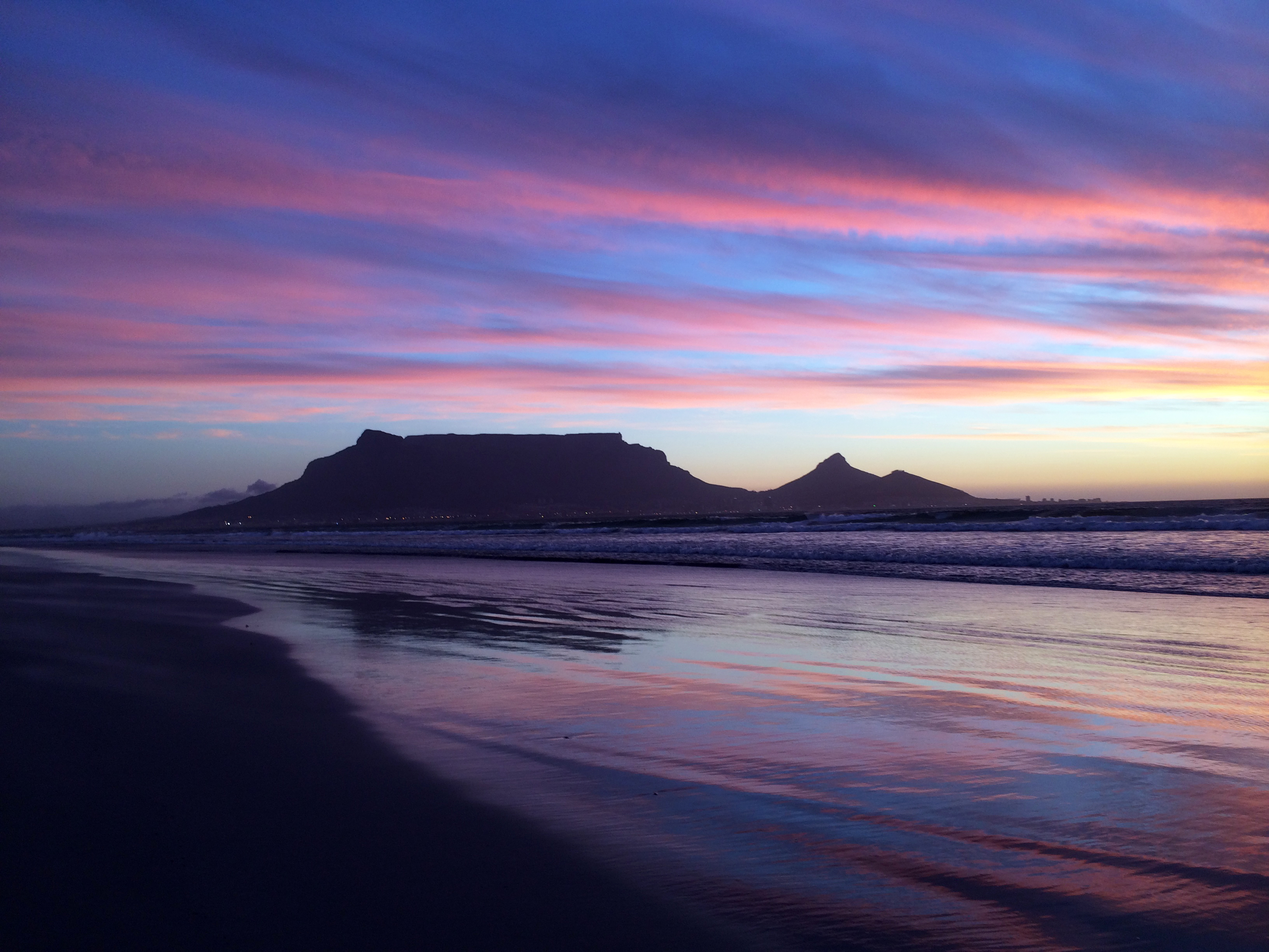Table Mountain from Sunset Beach   Photo by Wilson Carletti (All Rights Reserved)