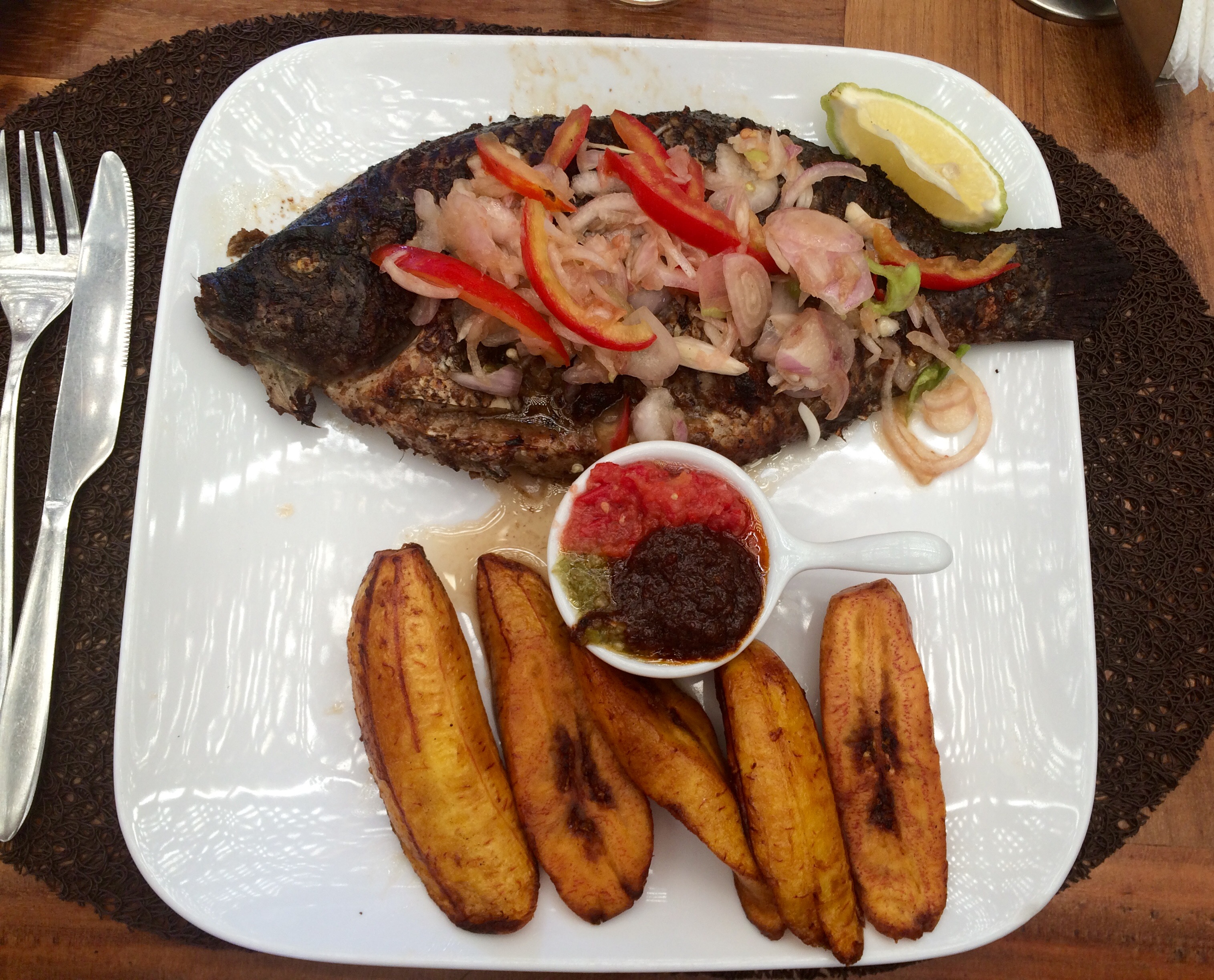 Grilled talapia & plantains | Photo by Wilson Carletti (All Rights Reserved)