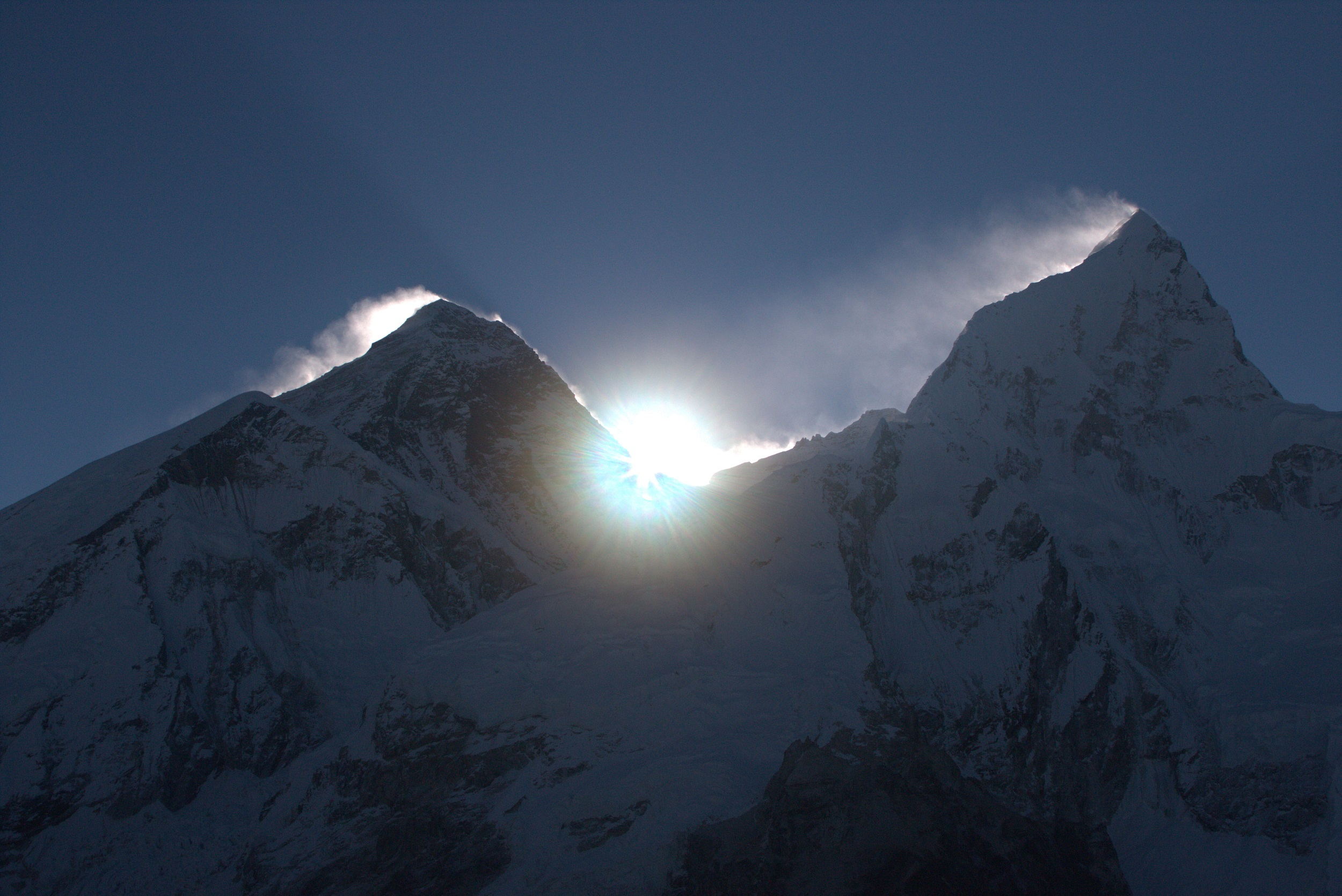 Sunrise between Everest and Nupse