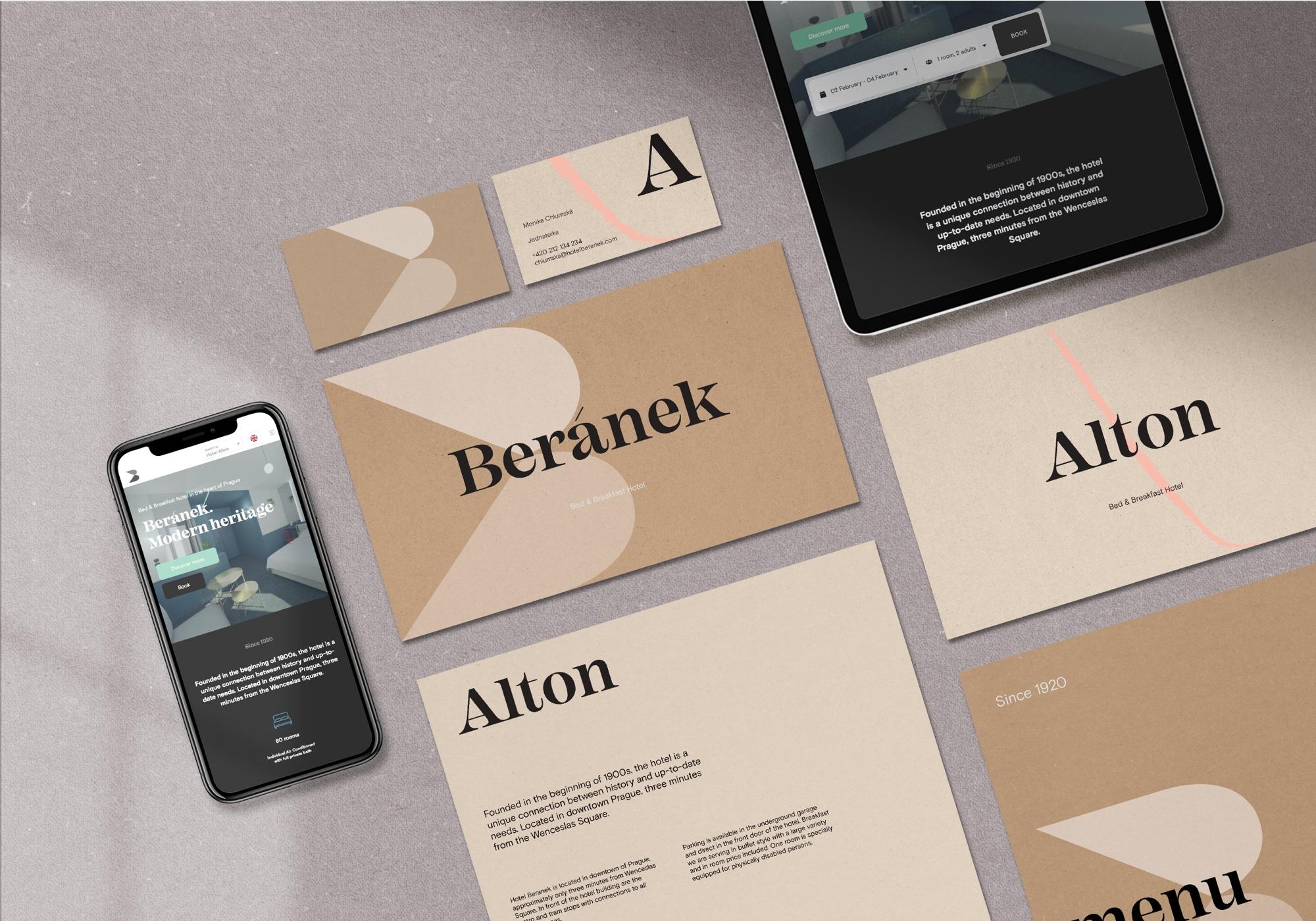 Hotel Beránek Alton Branding Website