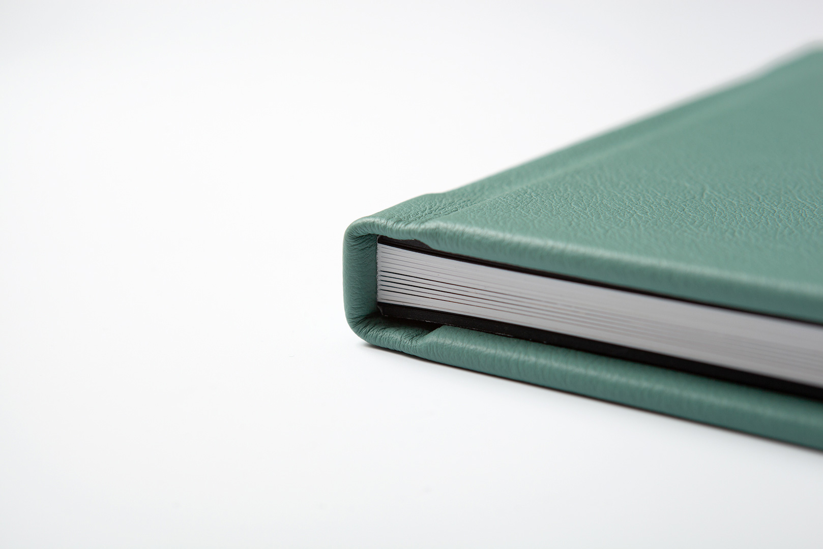 Jade green bull leather cover luxury photo album