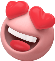 Emoji Coeur dans les yeux