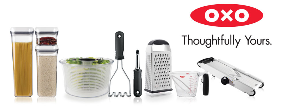 The front of Oxo flex bent upward showing the Oxo grip.