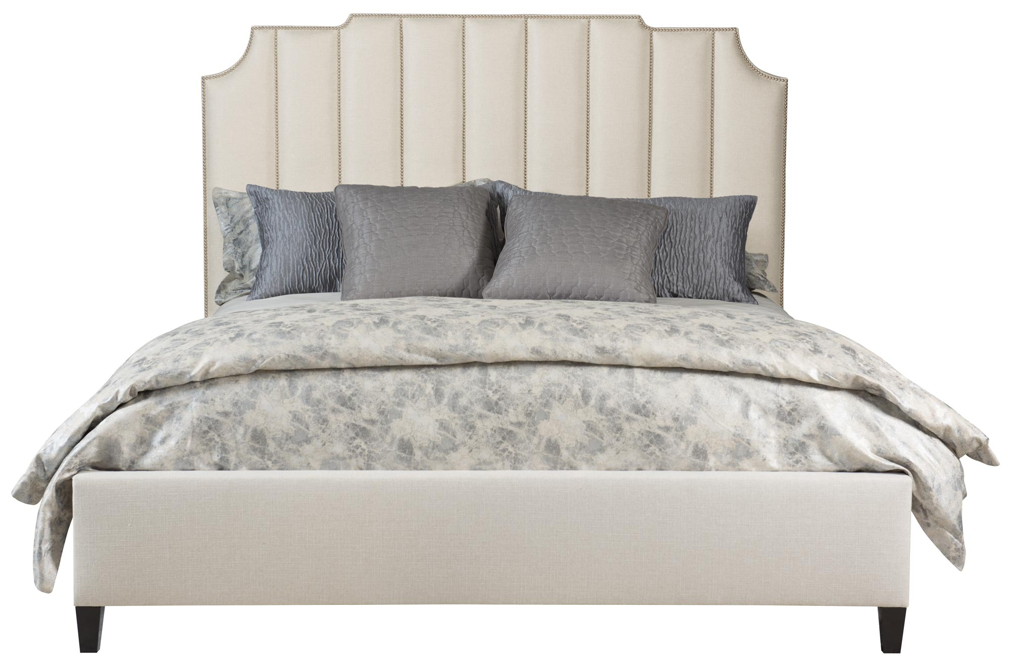 Bayonne Upholstered Bed Low Footboard King Bedding