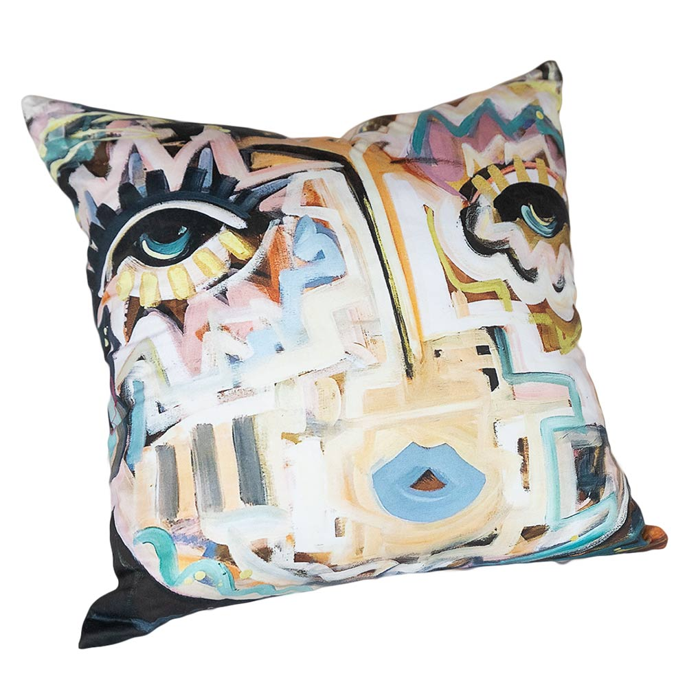 Art Blue Pillow