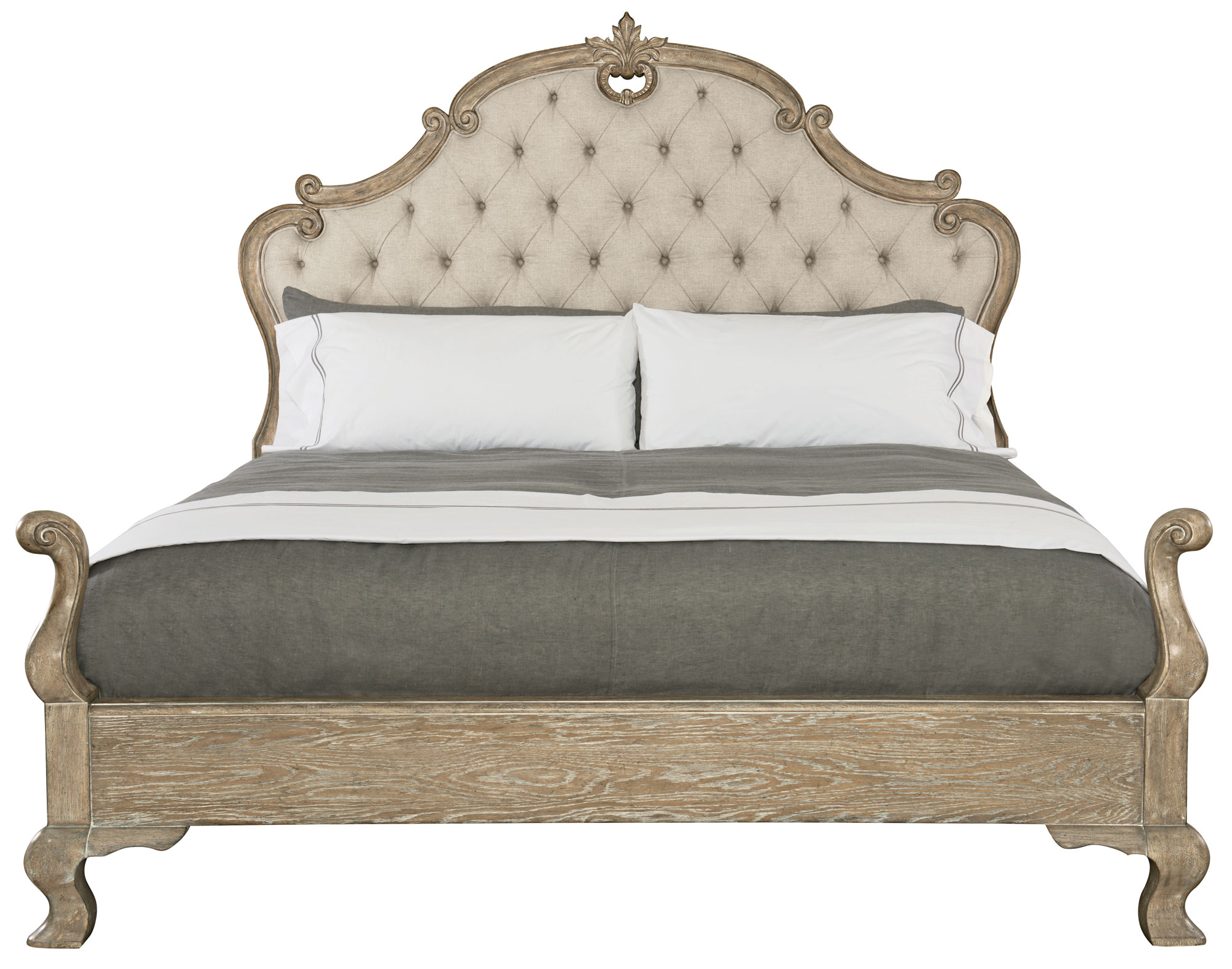 Campania Upholstered Panel Bed (Queen)