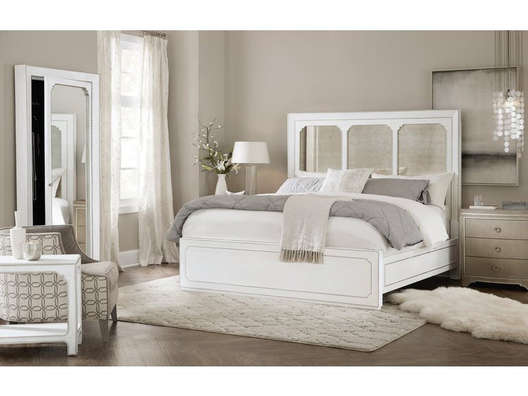 Modern Romance Panel Bed White (King)
