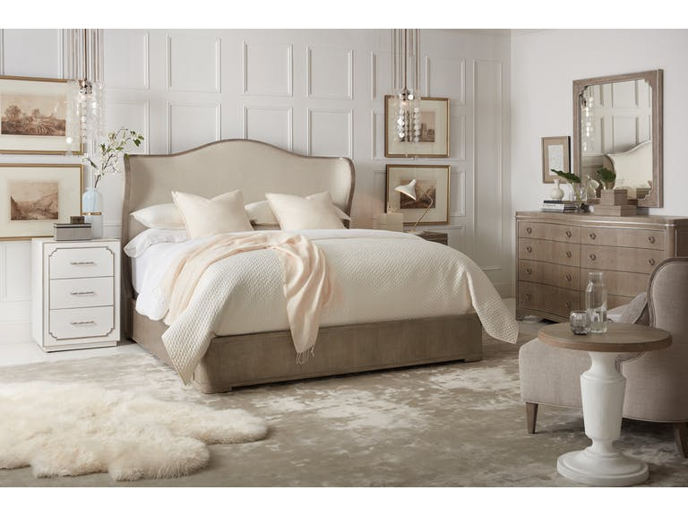 Modern Romance Upholstered Shelter Bed (California King)