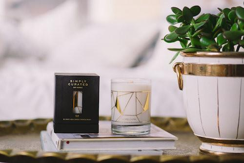 Oakmoss + Leather 22k Gold Soy Candle