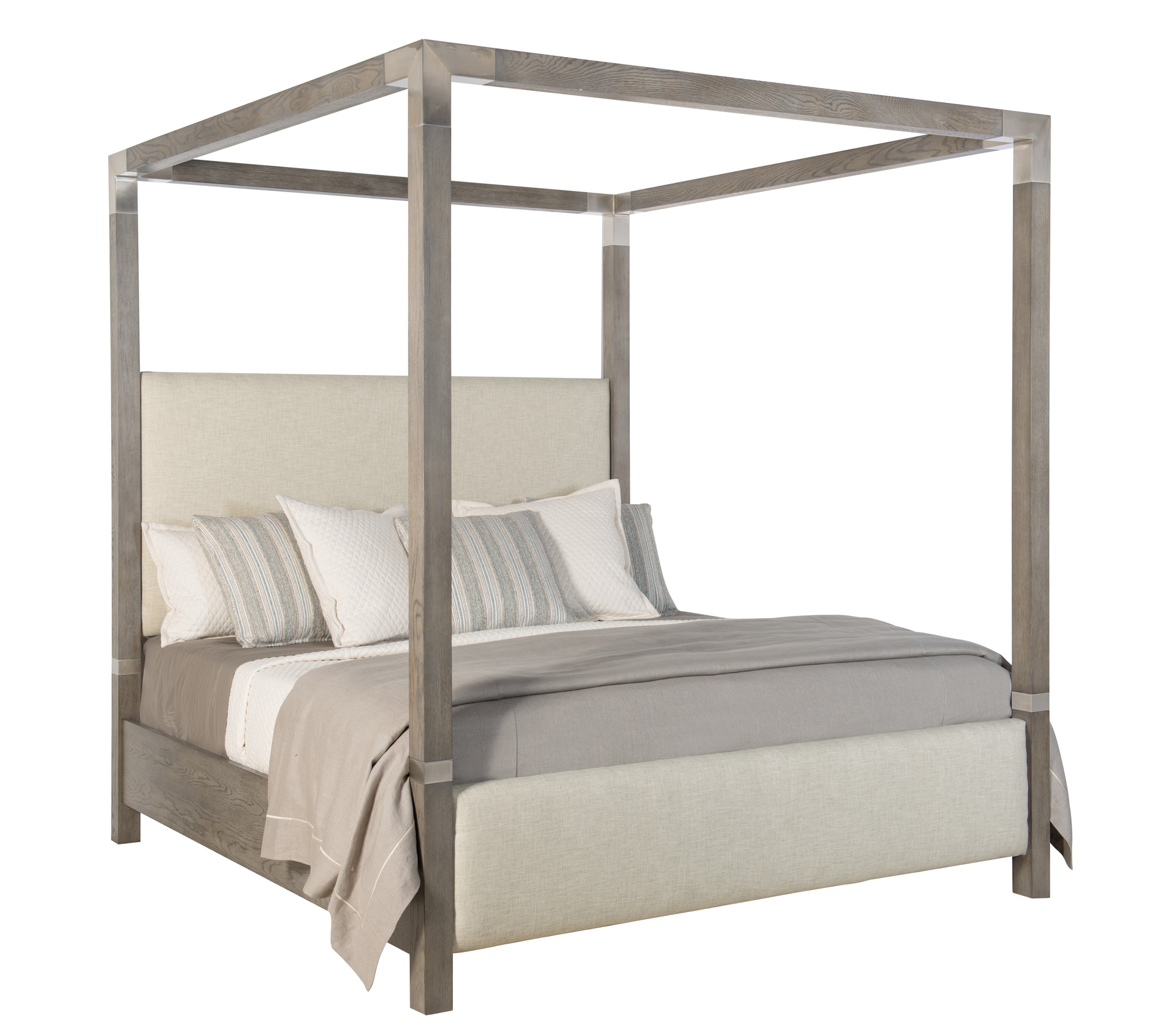 Palma Upholstered Canopy Bed (King)