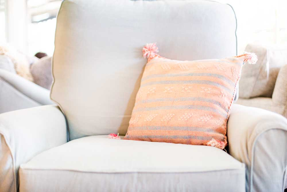 Square Pink Pillow (Fluff Corners)