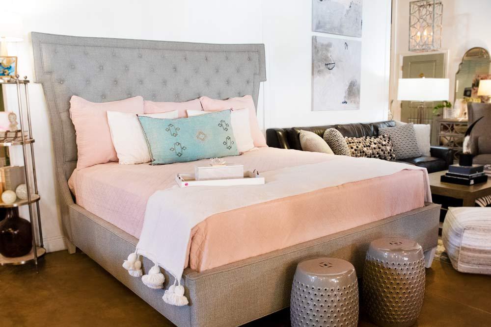 Long Blue Pillow