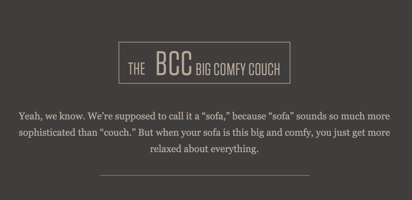 The B.C.C. (The Big Comfy Couch)
