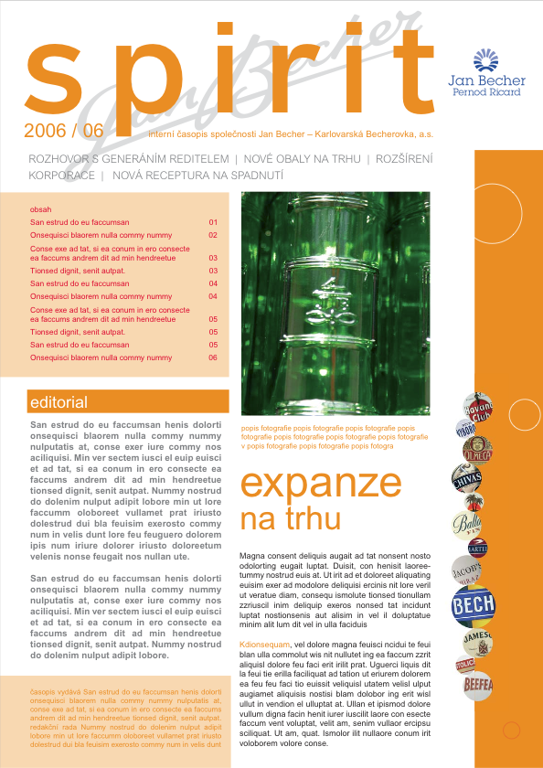 Návrh pro interní online magazín