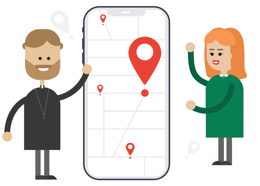 ChurchDesk Portal Events on a map