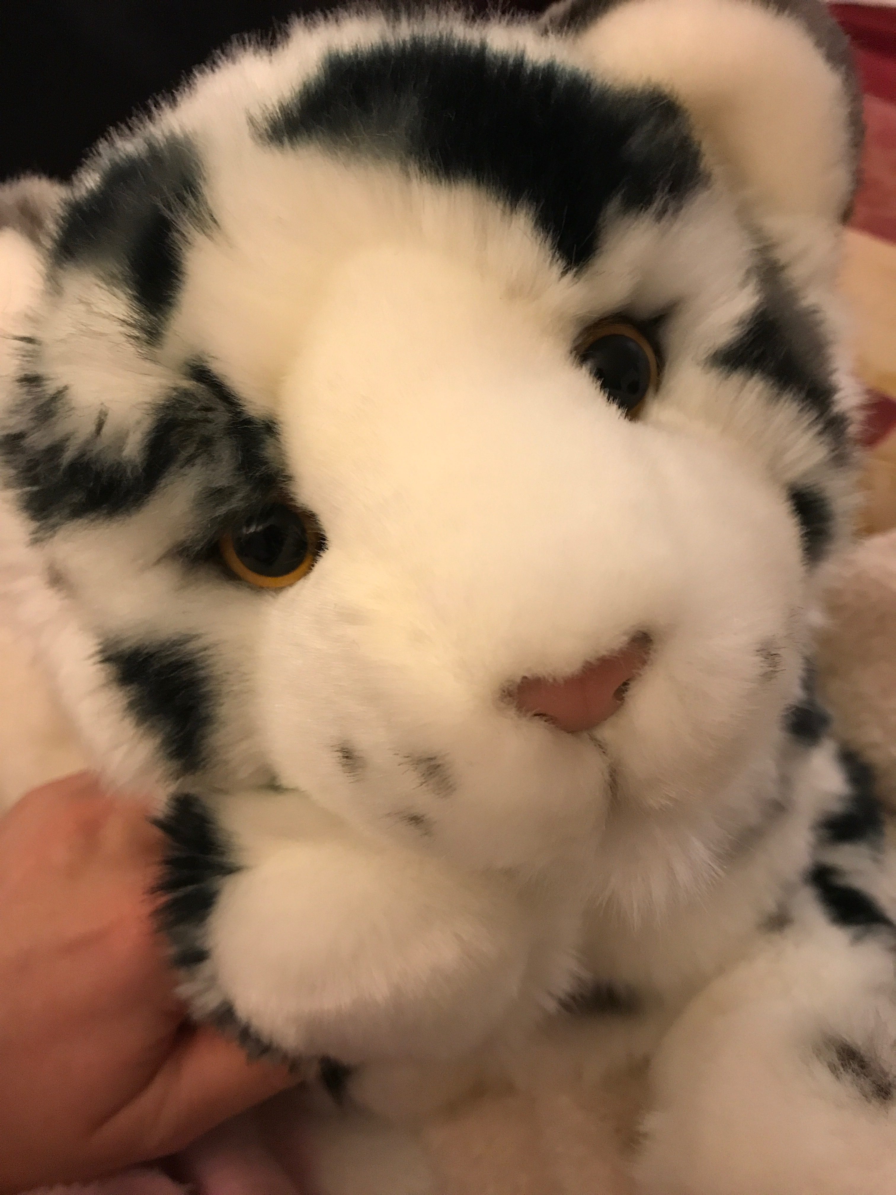 Stuffed animal snow leopard